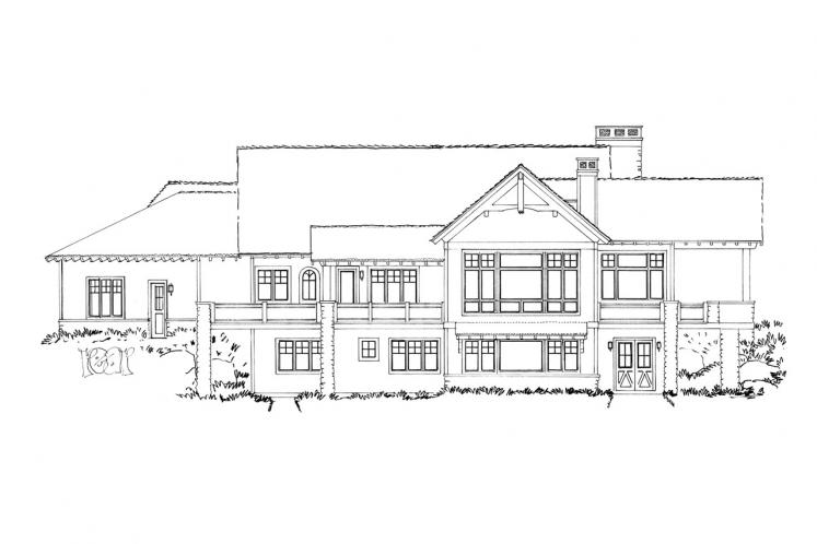 Lodge Style House Plan - Piney Hill 84243 - Rear Exterior