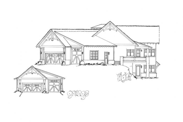 Craftsman House Plan - Piney Hill 84243 - Right Exterior