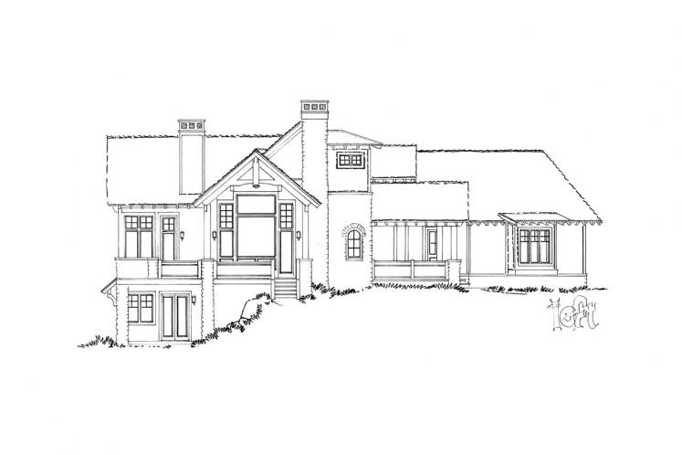 Traditional House Plan - Piney Hill 84243 - Left Exterior