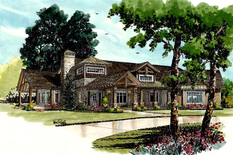 Craftsman House Plan - Piney Hill 84243 - Front Exterior