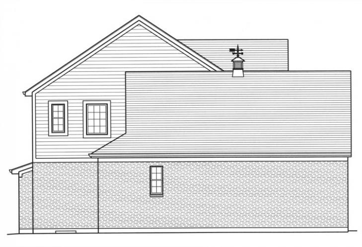 Country House Plan - The Bellebrooke 84293 - Left Exterior