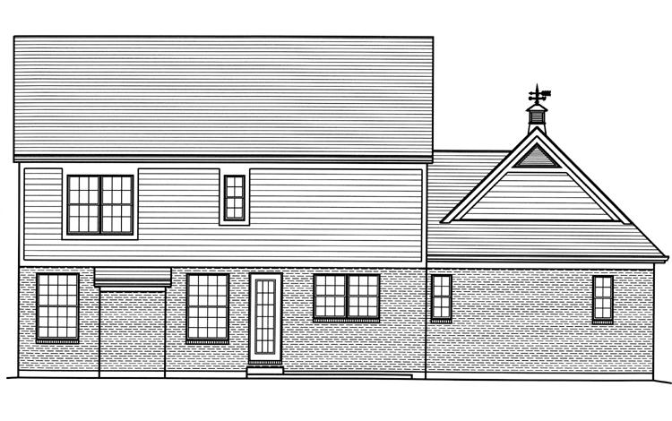 Colonial House Plan - The Bellebrooke 84293 - Rear Exterior
