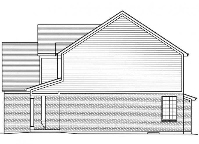 Traditional House Plan - The Bellebrooke 84293 - Right Exterior
