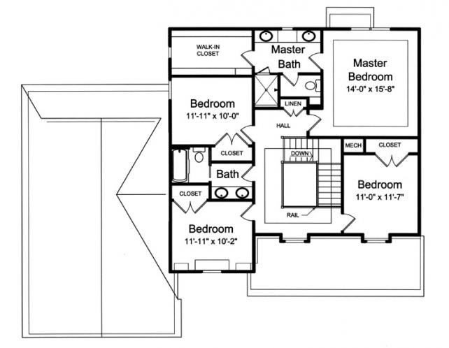 Country House Plan - The Bellebrooke 84293 - 2nd Floor Plan