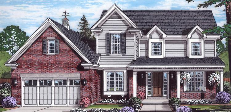 Traditional House Plan - The Bellebrooke 84293 - Front Exterior