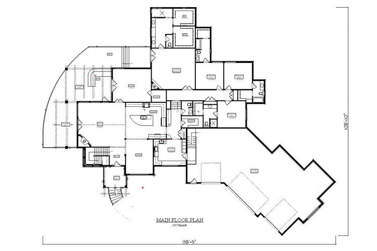 Craftsman House Plan - Black Horse Falls 84398 - 1st Floor Plan
