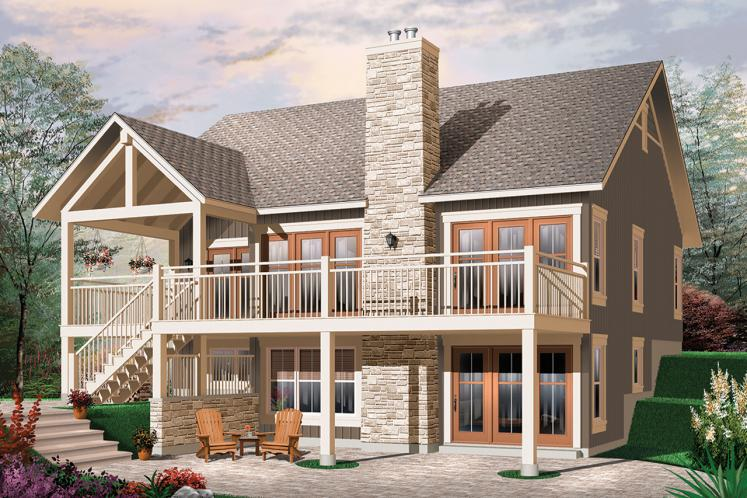Country House Plan - Bay Breeze 3 84429 - Rear Exterior