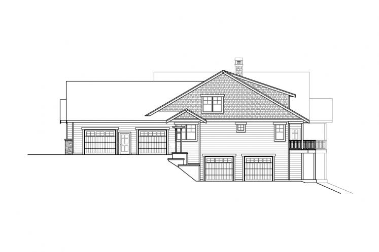 Ranch House Plan - Estes Park 84468 - Right Exterior