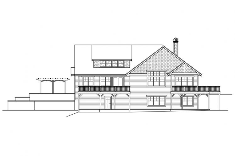 Craftsman House Plan - Estes Park 84468 - Rear Exterior