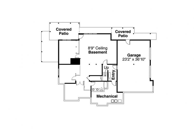 Ranch House Plan - Estes Park 84468 - Basement Floor Plan