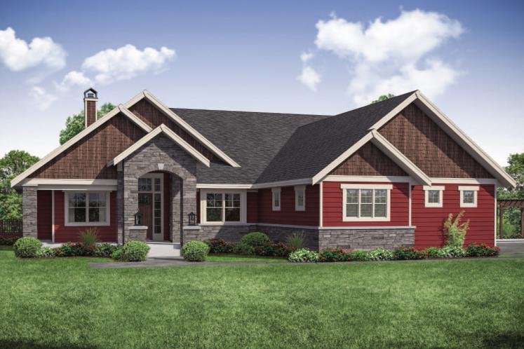 Ranch House Plan - Estes Park 84468 - Front Exterior