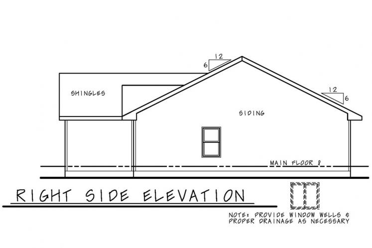 Traditional House Plan - Krebs Pointe 84562 - Right Exterior