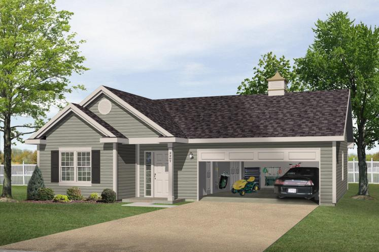 Ranch House Plan -  84620 - Front Exterior