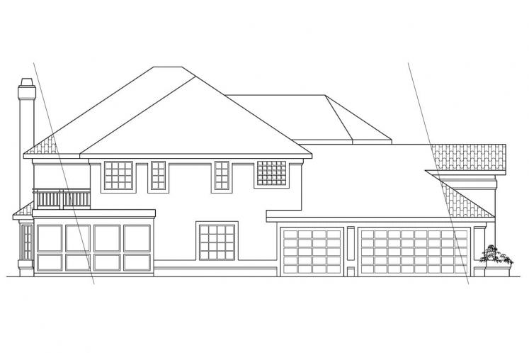 Southwest House Plan - Stanfield 84658 - Left Exterior