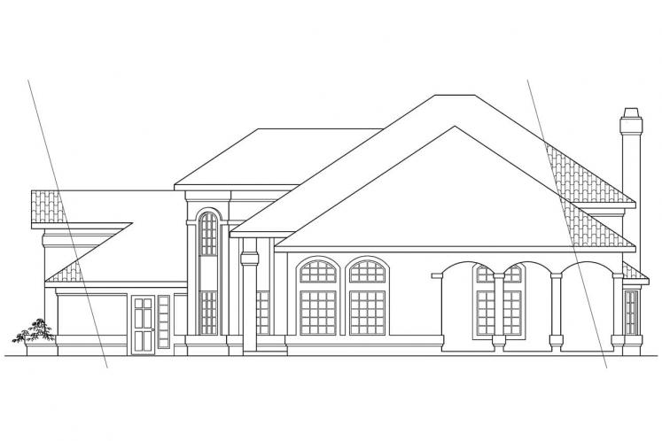 Spanish House Plan - Stanfield 84658 - Right Exterior