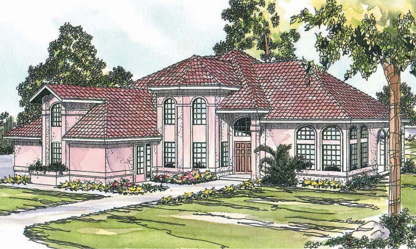 Spanish House Plan - Stanfield 84658 - Front Exterior