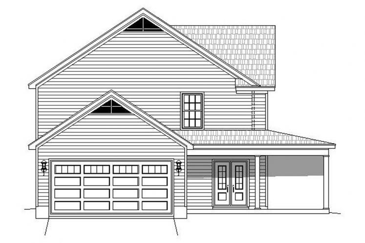Country House Plan -  84778 - Left Exterior