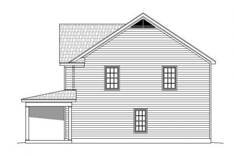 Farmhouse House Plan -  84778 - Right Exterior