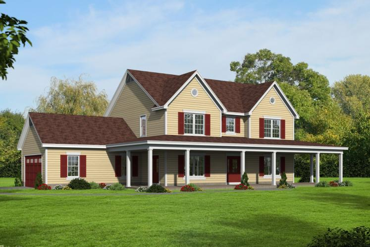 Country House Plan -  84778 - Front Exterior