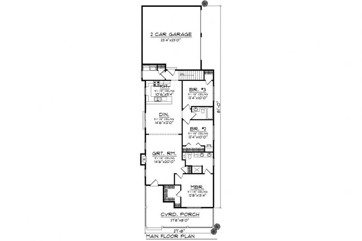 Ranch House Plan -  84812 - 1st Floor Plan