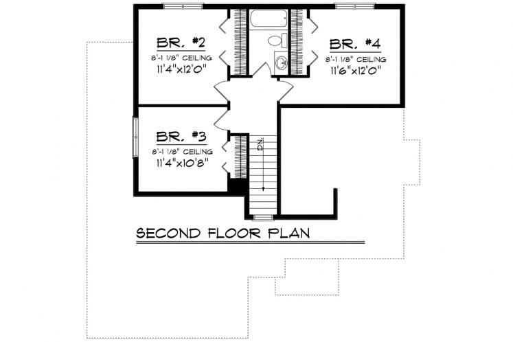 Contemporary House Plan -  84826 - 2nd Floor Plan
