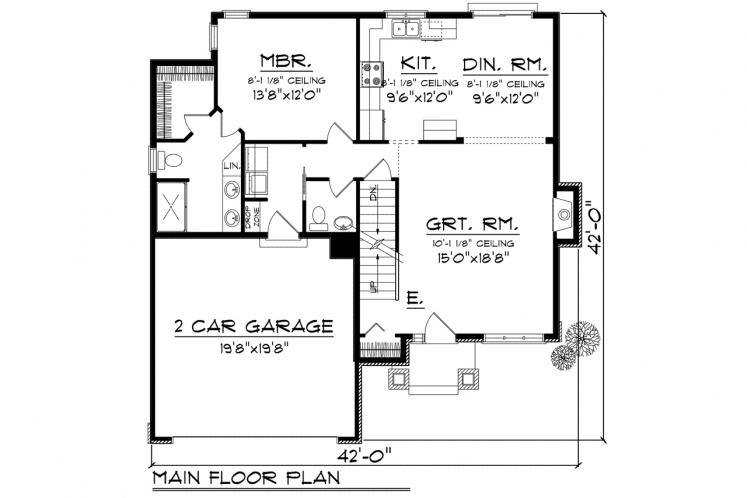 Traditional House Plan -  84826 - 1st Floor Plan