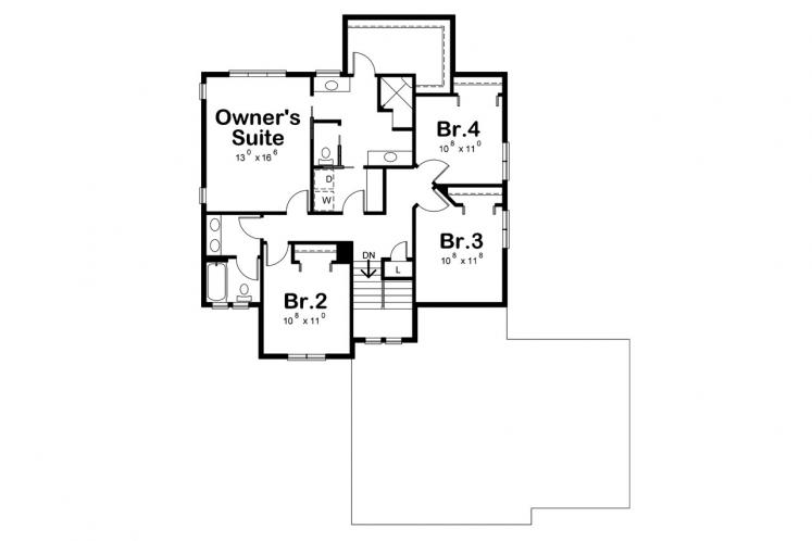 Country House Plan - Steele Magnolia 84895 - 2nd Floor Plan