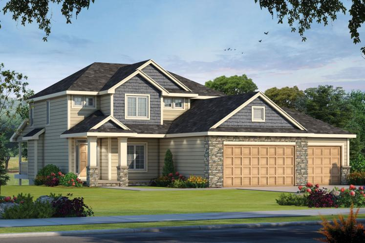 Craftsman House Plan - Steele Magnolia 84895 - Front Exterior