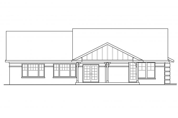 Southern House Plan - Bakersfield 84900 - Rear Exterior