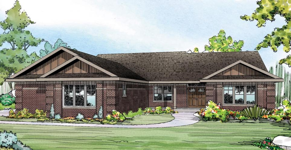 Ranch House Plan - Bakersfield 84900 - Front Exterior