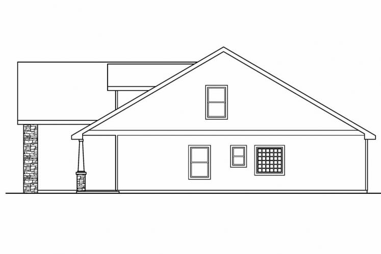 Country House Plan - Eastham 84905 - Right Exterior