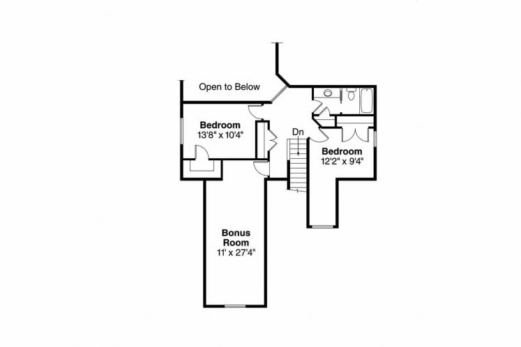 Craftsman House Plan - Eastham 84905 - 2nd Floor Plan