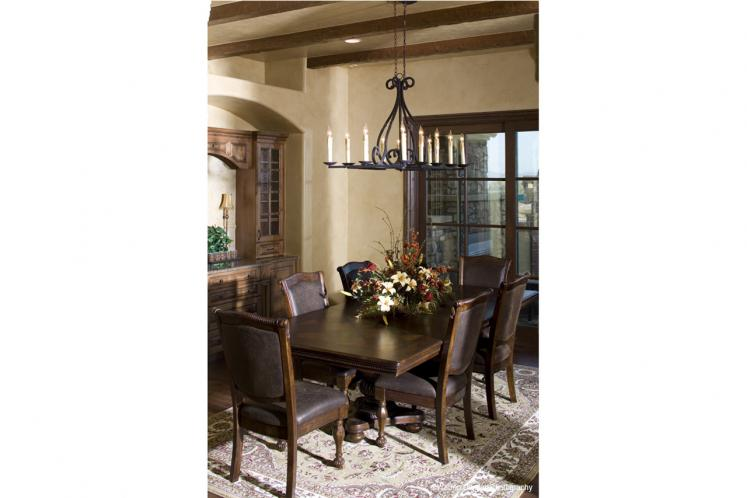 Tuscan House Plan - La Villa Diciotto 84916 - Dining Room