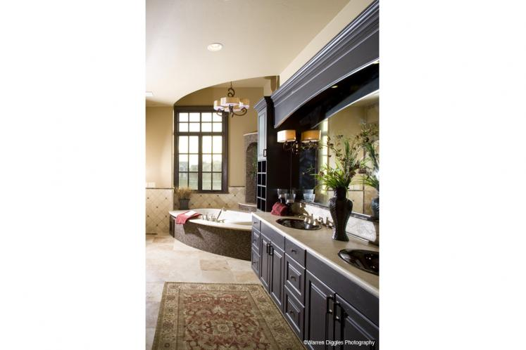Tuscan House Plan - La Villa Diciotto 84916 - Master Bathroom