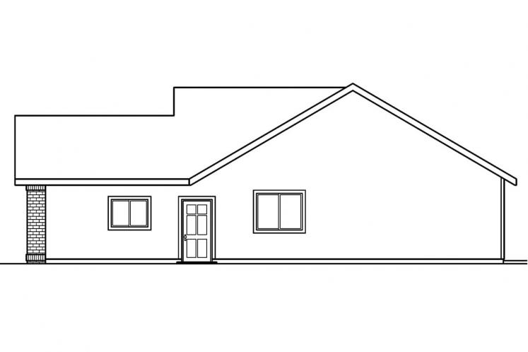 Ranch House Plan - Lamont 84985 - Right Exterior
