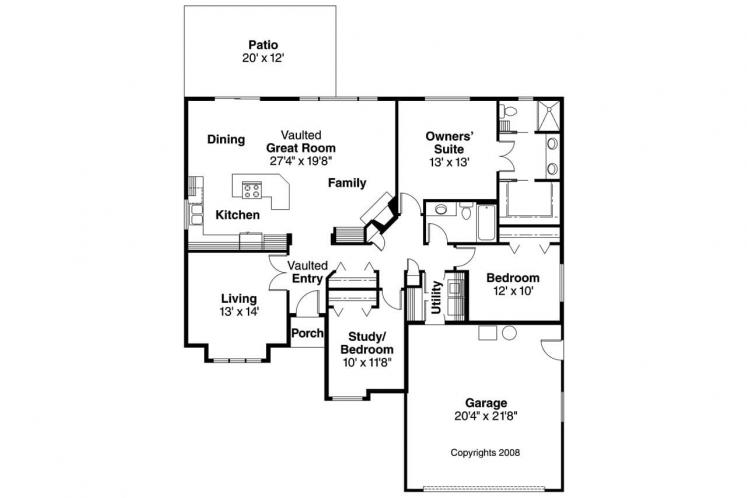 Country House Plan - Lamont 84985 - 1st Floor Plan