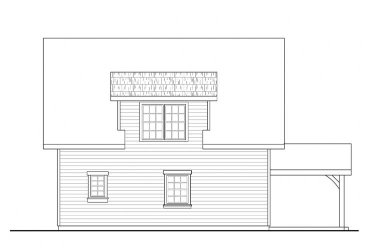 Bungalow House Plan - Bayberry Cottage 85054 - Rear Exterior