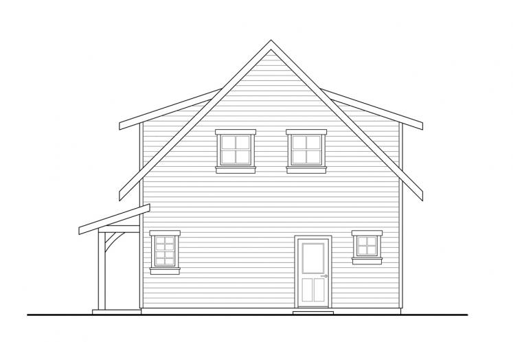 Cottage House Plan - Bayberry Cottage 85054 - Right Exterior