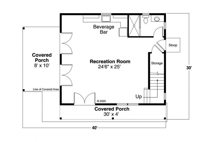 Bungalow House Plan - Bayberry Cottage 85054 - 1st Floor Plan