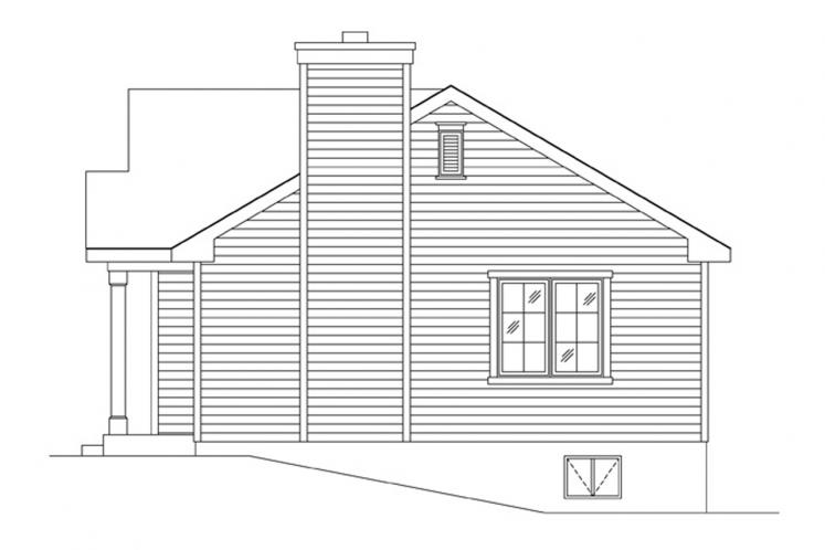 Traditional House Plan -  85082 - Right Exterior