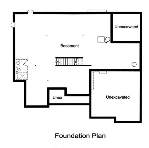 Craftsman House Plan - The Glen Arbor 85090 - Basement Floor Plan