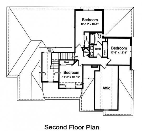 European House Plan - The Glen Arbor 85090 - 2nd Floor Plan