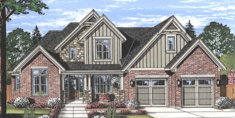 Craftsman House Plan - The Glen Arbor 85090 - Front Exterior