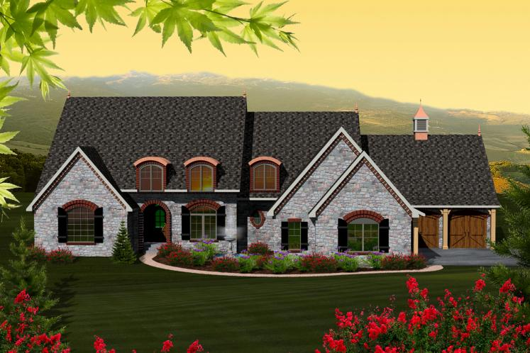 Country House Plan -  85099 - Front Exterior