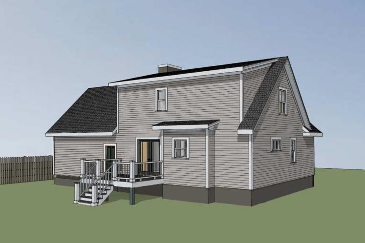 Country House Plan -  85316 - Left Exterior