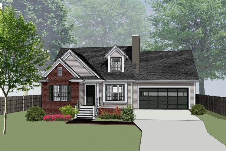 Craftsman House Plan -  85316 - Front Exterior