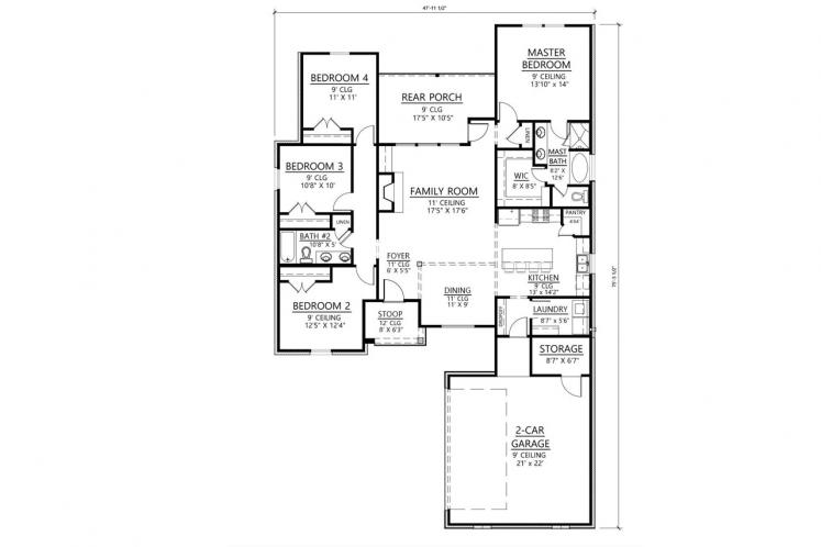 Classic House Plan - Savannah 85564 - 1st Floor Plan
