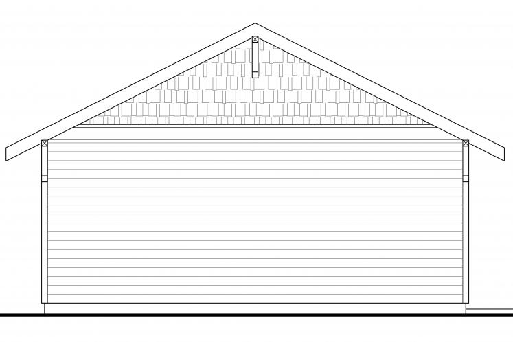 Country Garage Plan -  85613 - Right Exterior