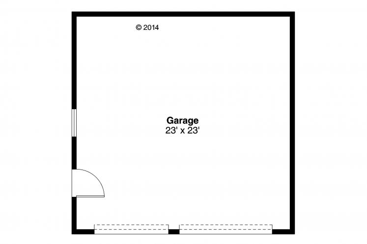 Traditional Garage Plan -  85613 - 1st Floor Plan