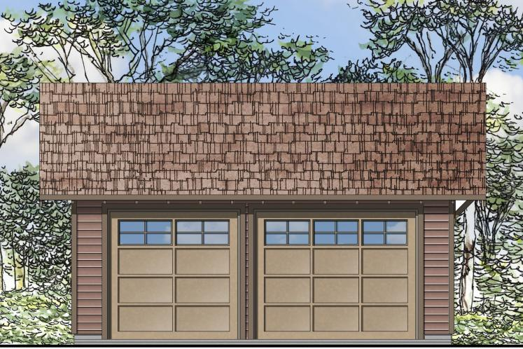 Traditional Garage Plan -  85613 - Front Exterior